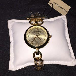 Burberry Ladies Gold Mini Watch
